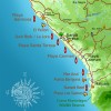 Santa Teresa and Malpais Surf Map