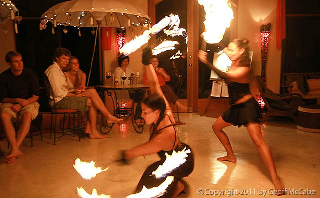 sexy fire dancers