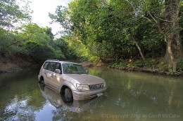 My car stuck in the Rio Negro
